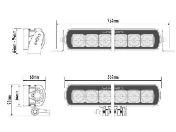 Lazer T16 Evolution kaugtuli t16_evo_-_dimensions_1000x750